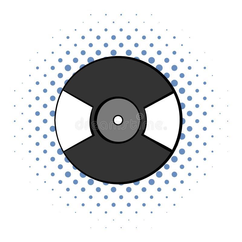 Vinyl record comics icon. On a white background royalty free illustration