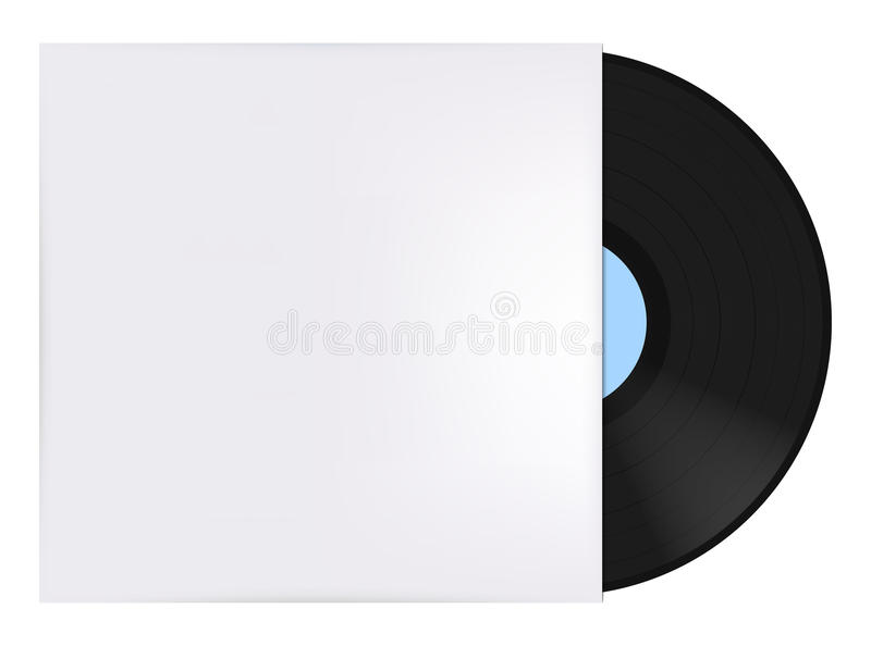 Vinyl record with cover vector illustration