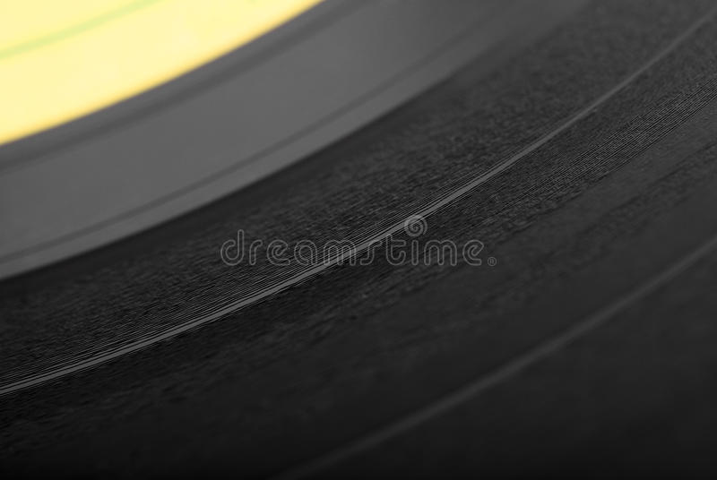Vinyl record detail stock photography