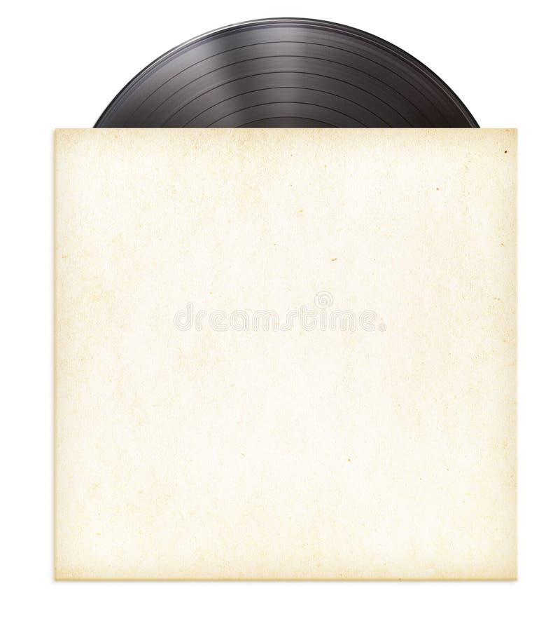 Vinyl record disc LP in paper sleeve stock photo
