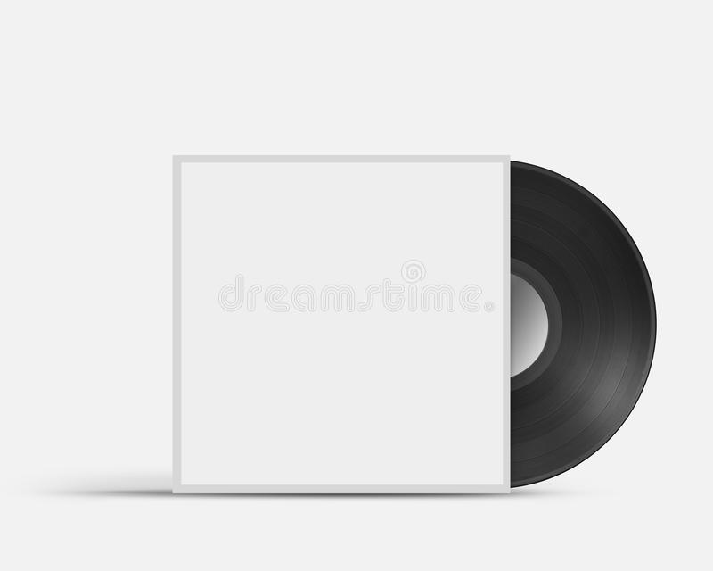 Vinyl record in envelope royalty free illustration