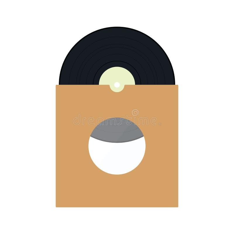Vinyl record in envelope icon royalty free illustration