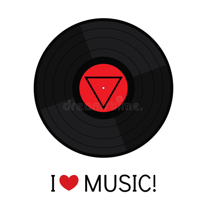 Vinyl record in a flat style. Vector illustration for a card or poster, print on clothes. stock illustration