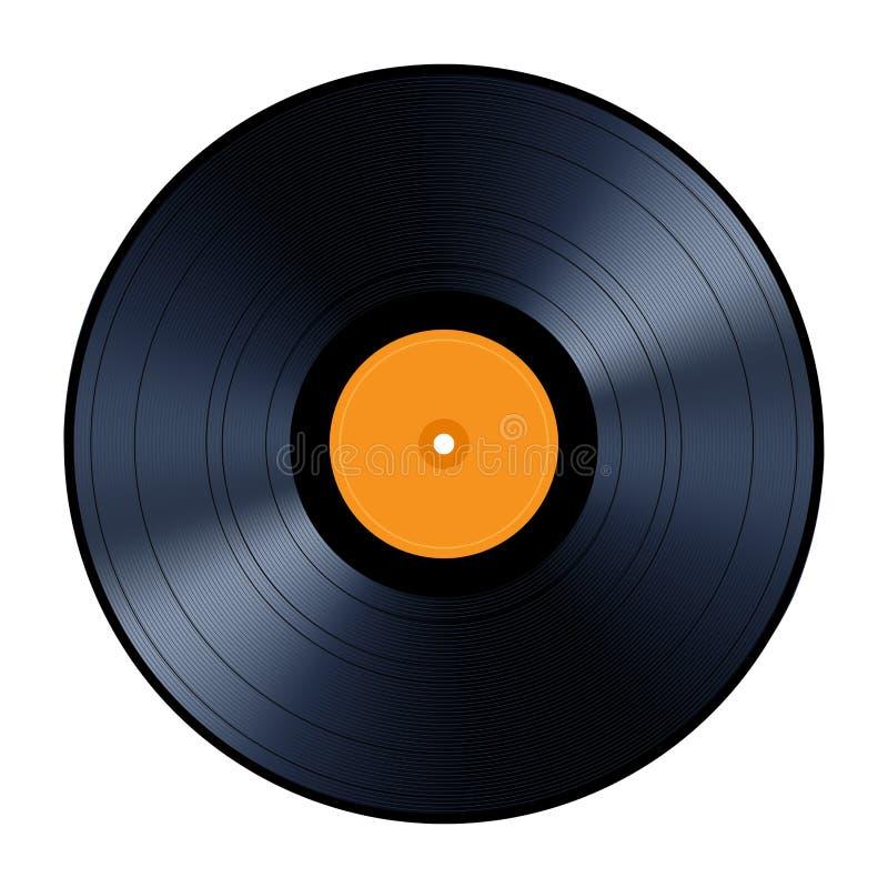 Vinyl record isolated on white background. royalty free illustration