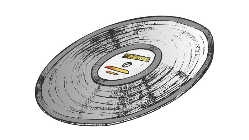 Vinyl Record For Listening Music Color Vector stock image