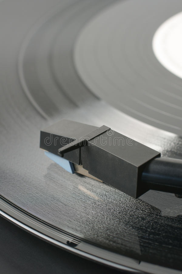 Vinyl Record. Or LP and record player stylus stock image