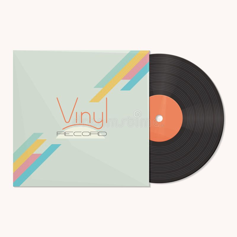 Vinyl Record. Vinyl in a package with a logo on a white background vector illustration