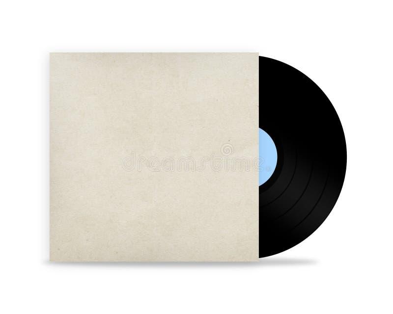 Vinyl record in a paper case stock photo