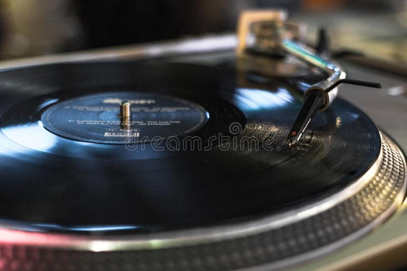 Player for vinyl records royalty free stock images
