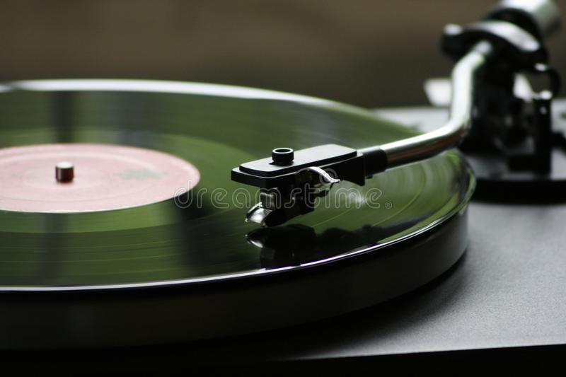 Vinyl Record Playing stock image