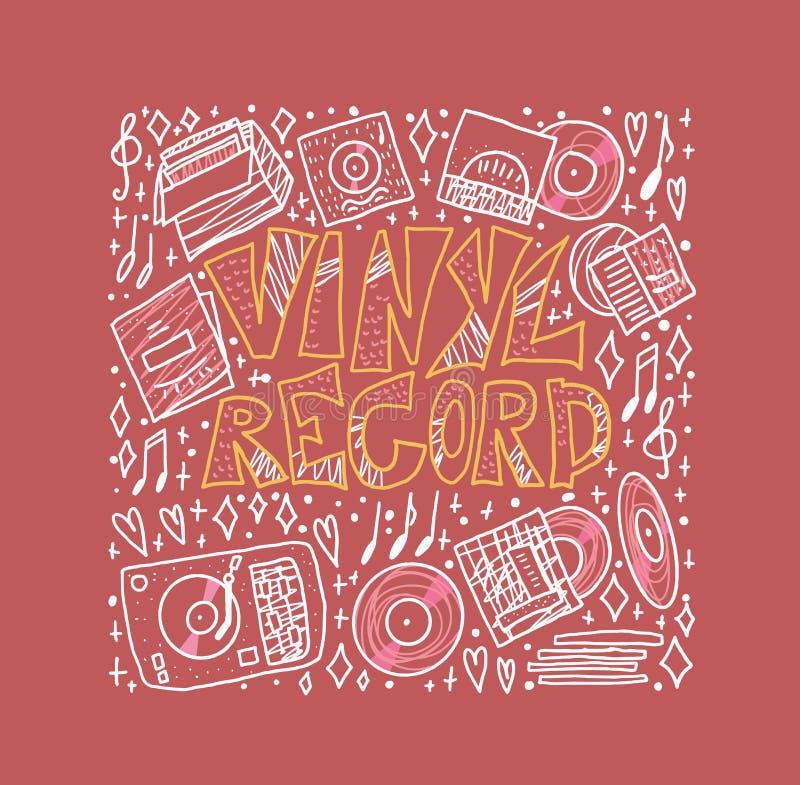 Vinyl record concept. Vector color illustration. vector illustration