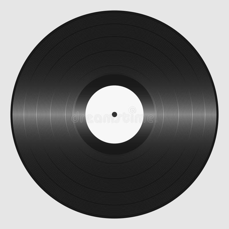 Vinyl record. Retro sound carrier. Plate for DJ Scratch. stock illustration