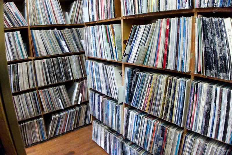 Vinyl Record Store stock images