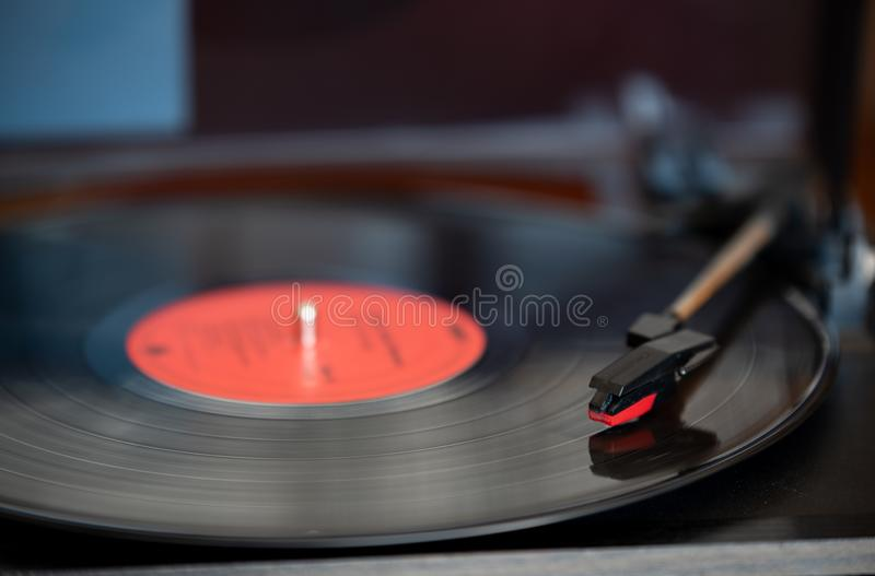 A vinyl record and turn table royalty free stock images
