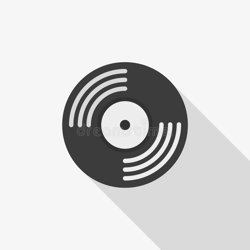 Vinyl record vector icon. Color illustration vinyl record vector icon royalty free illustration