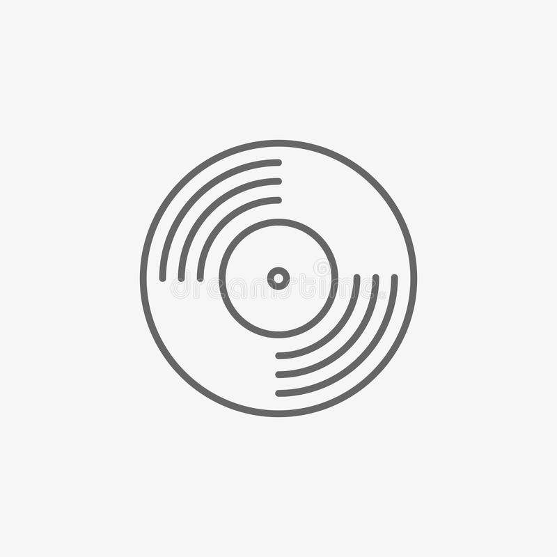 Vinyl record vector icon. On grey background royalty free illustration
