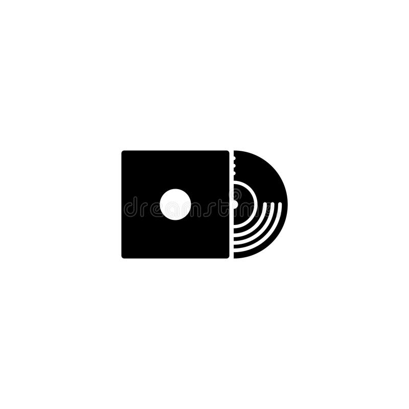 Vinyl record vector icon. On white background royalty free illustration