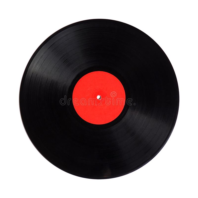 vinyl record detail with copy space isolated over white stock photography