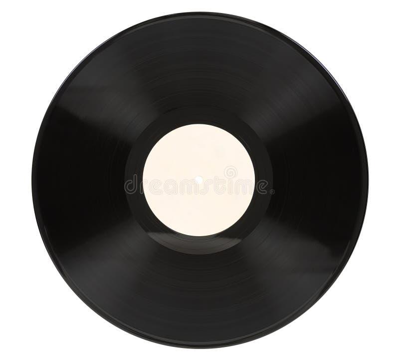 Vinyl record on white background stock photo