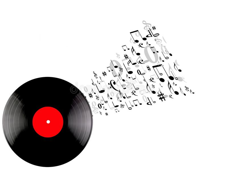 Vinyl Records. Isolated against a white background royalty free stock photo