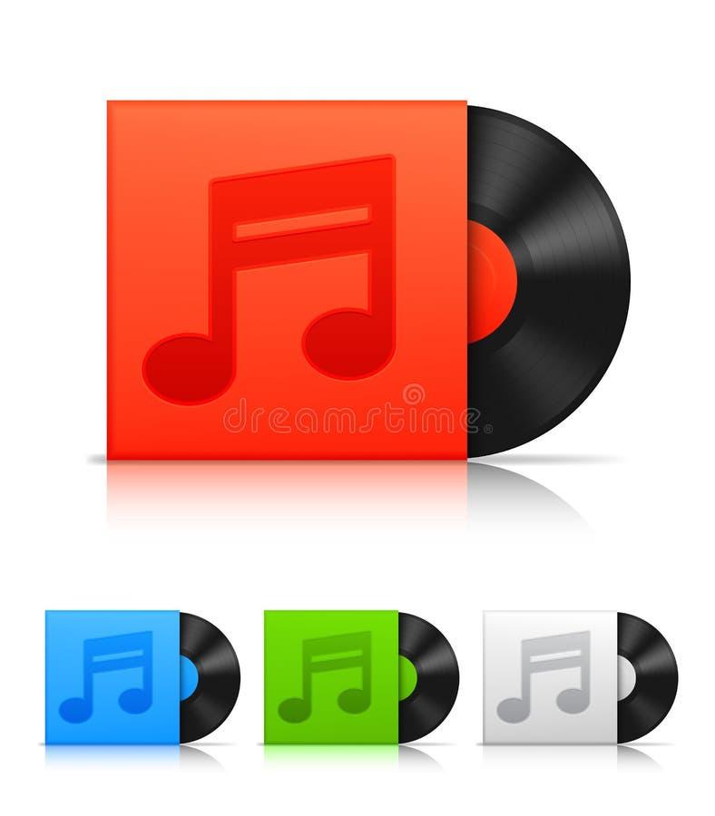 Vinyl records. vector illustration
