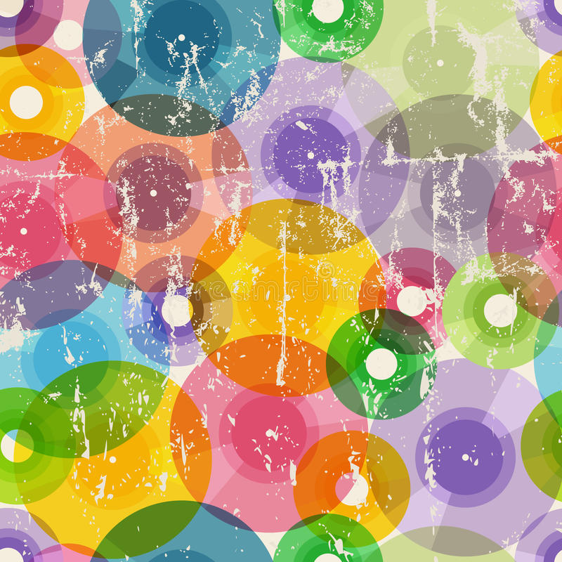 Vinyl records seamless background pattern stock illustration