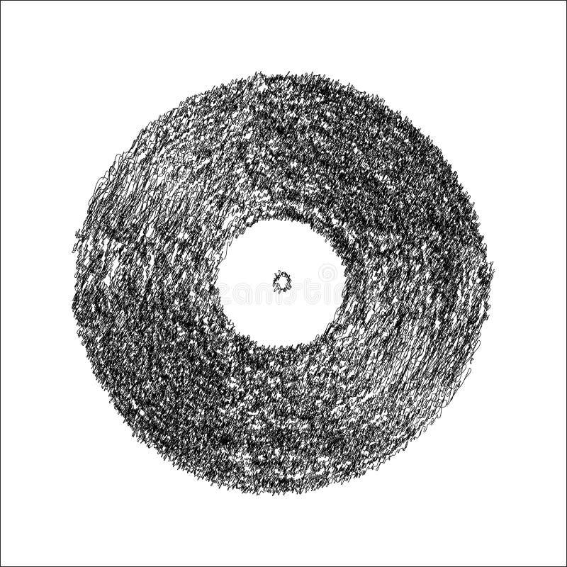 Vinyl scribble effect vector vector illustration