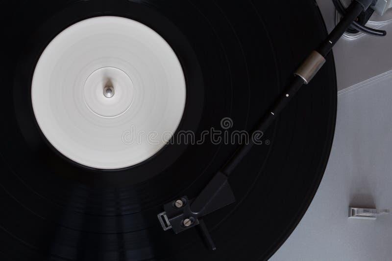 Vinyl speler De roterende schijf Hoofdclose-up royalty-vrije stock fotografie