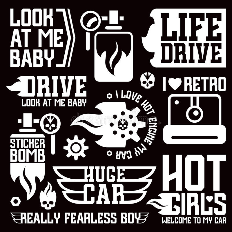 Vinyl Stickers On Car Stock Vector Image Of Graphic - Graphic design stickers for cars