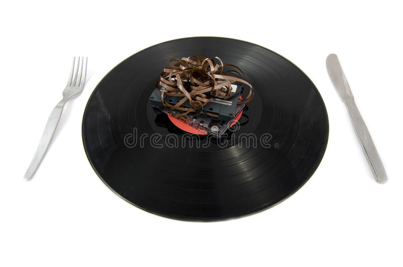 Download Vinyl Tableware stock image. Image of accessory, record - 28377225