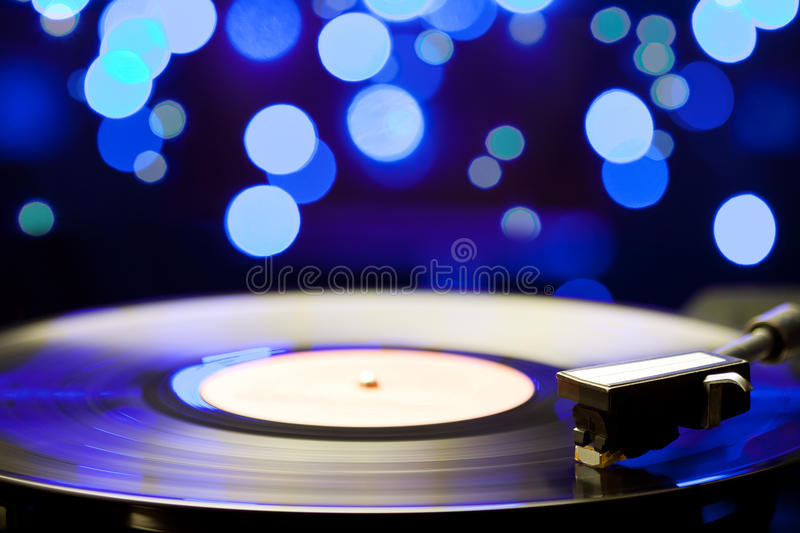 Vinyl turntable royalty free stock image