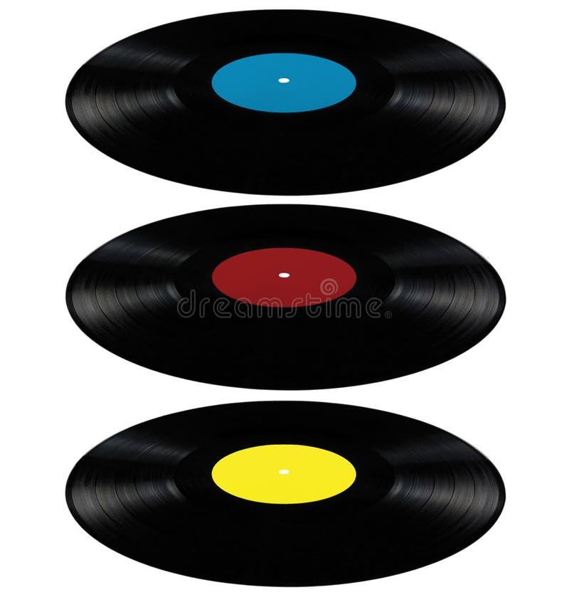 Vinyl van de het albumschijf van het lpverslag langspeel de schijf rood blauw vector illustratie