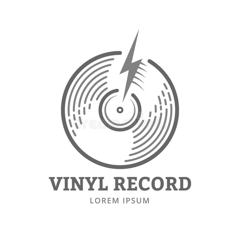 Vinyl verslag stock illustratie