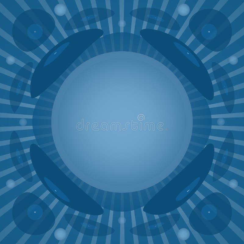 Vinylachtergrond in blauwe kleuren stock afbeeldingen