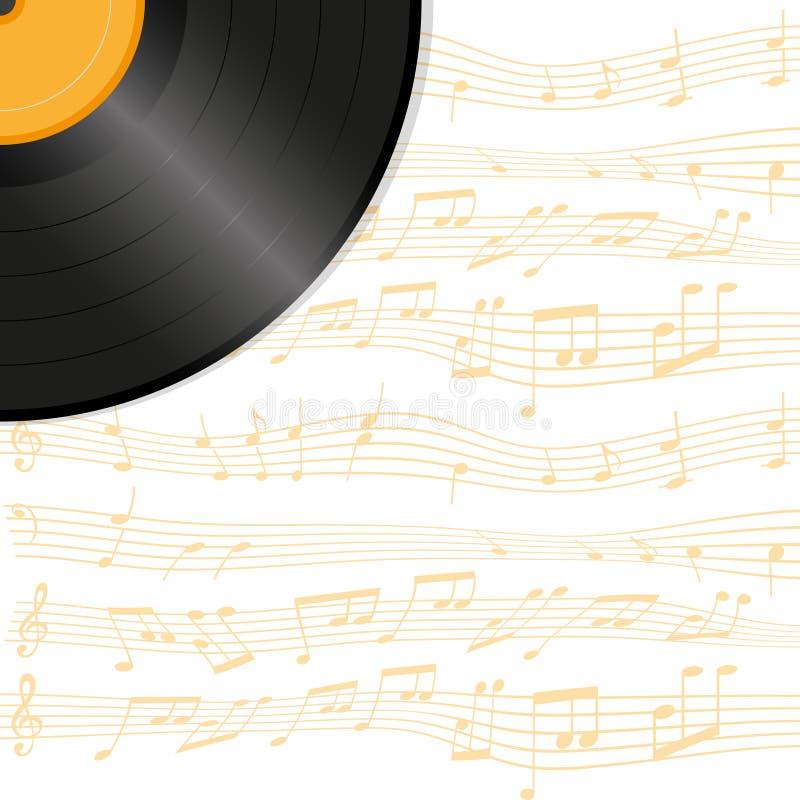 Vinylafficheachtergrond vector illustratie