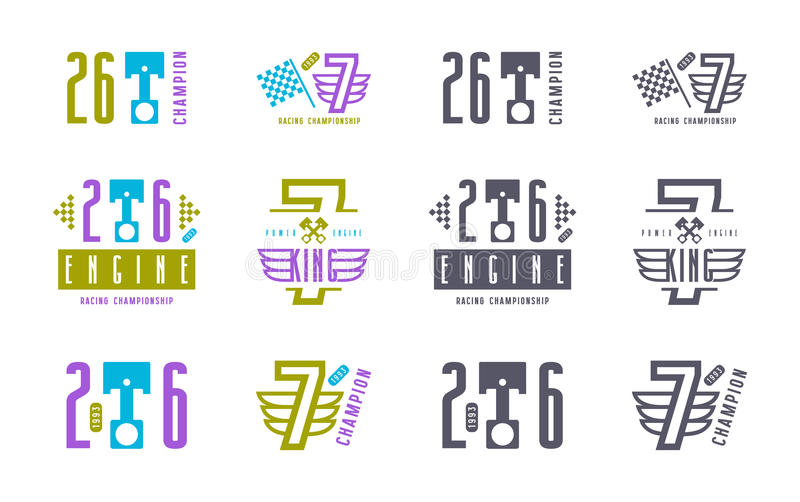 Vinylaufkleber für Rennwagen lizenzfreie abbildung