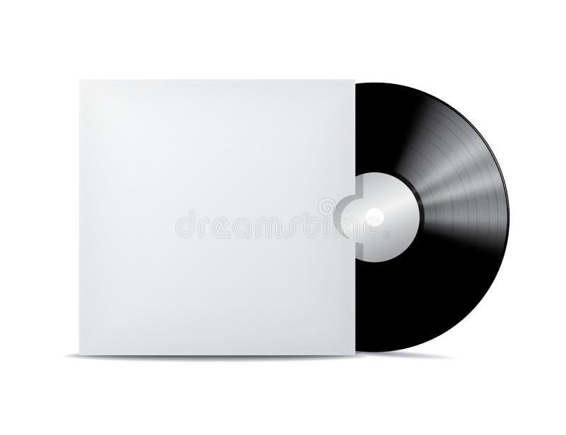 Vinylaufzeichnung im Blinddeckelumschlag. vektor abbildung
