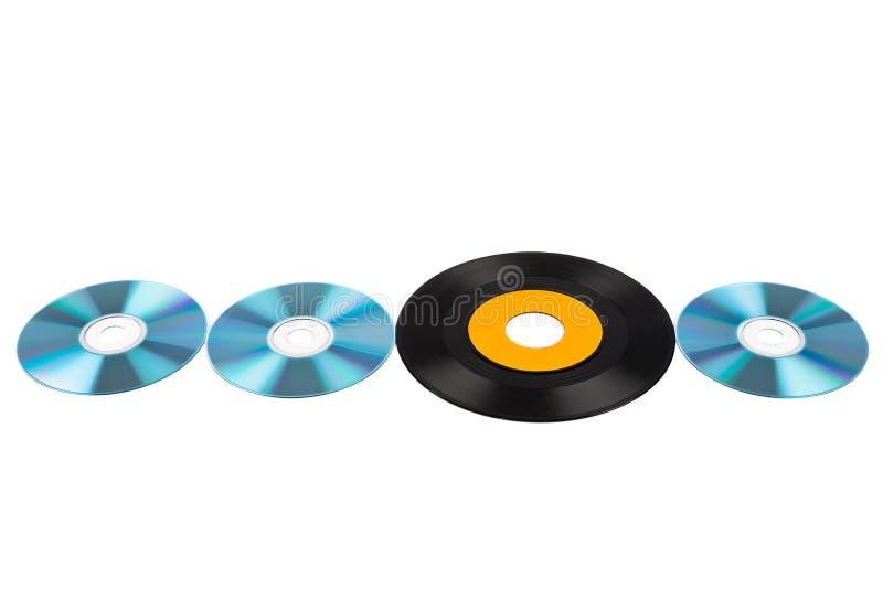 Vinylaufzeichnung und -disketten lizenzfreie stockfotografie