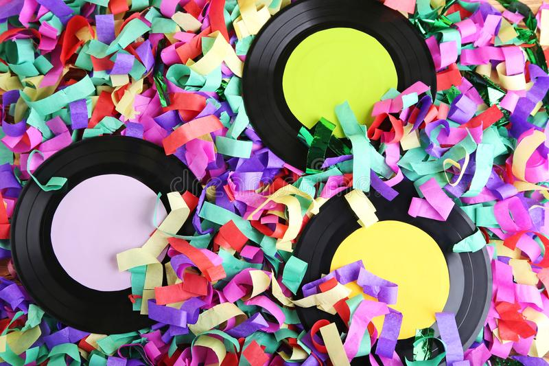 Vinylaufzeichnungen stockfotos