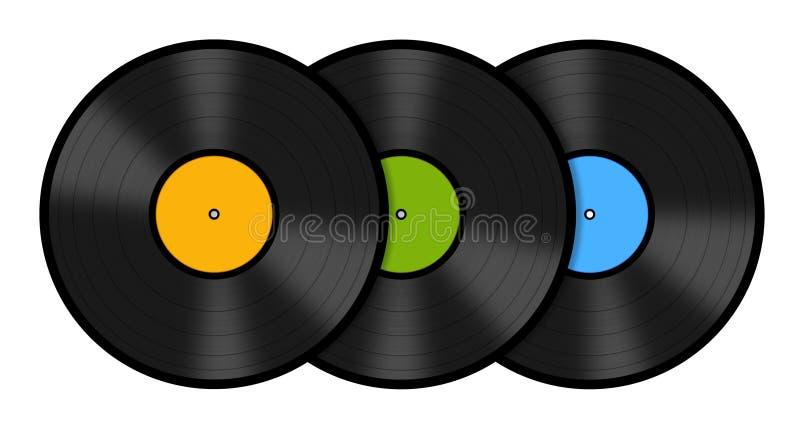 Vinyldisketter arkivfoto