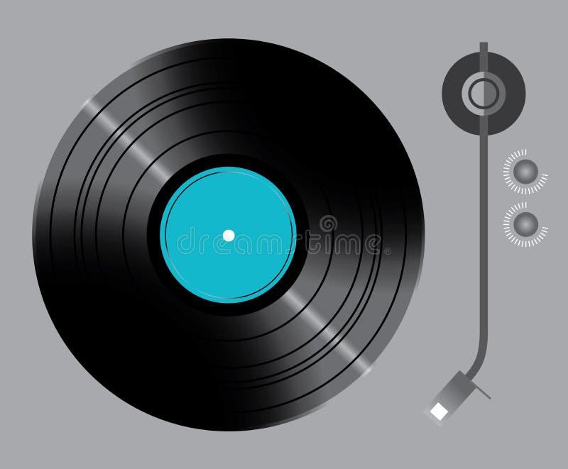 Vinyldrehscheibe mit Schaltern lizenzfreie abbildung