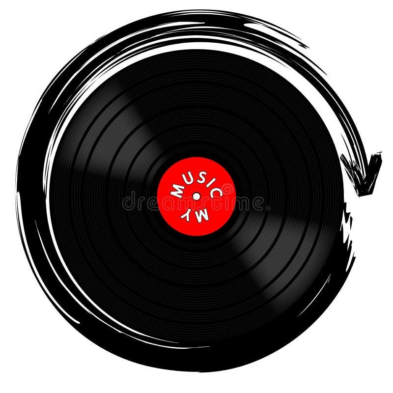 Vinyle disque-LP illustration de vecteur