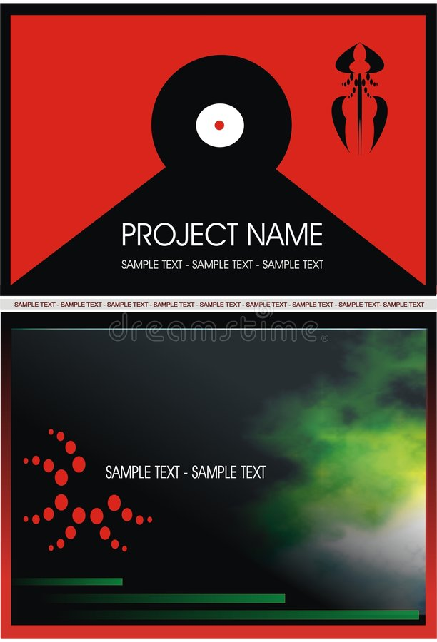 Vinyle rouge 1 image stock