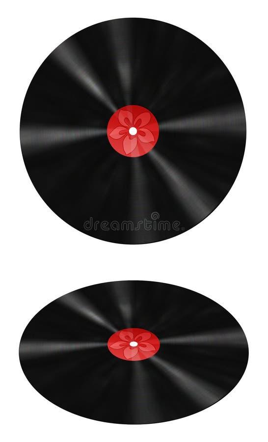 Vinyle Rouge Record D étiquette Photo stock