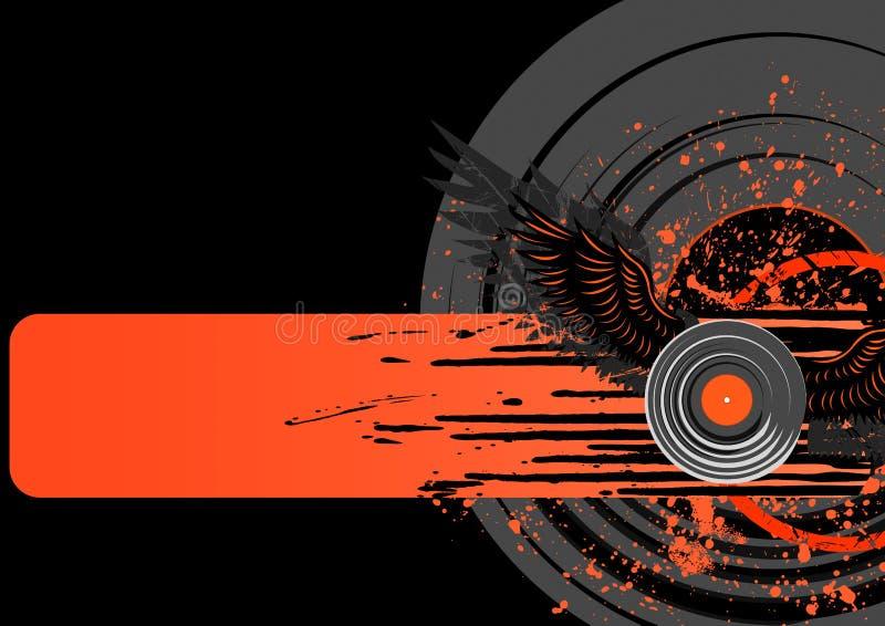 Vinylgrunge Hintergrund lizenzfreie abbildung