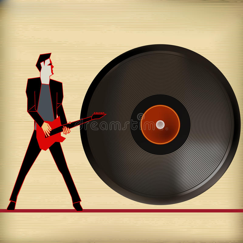 Vinylmusik lizenzfreie abbildung