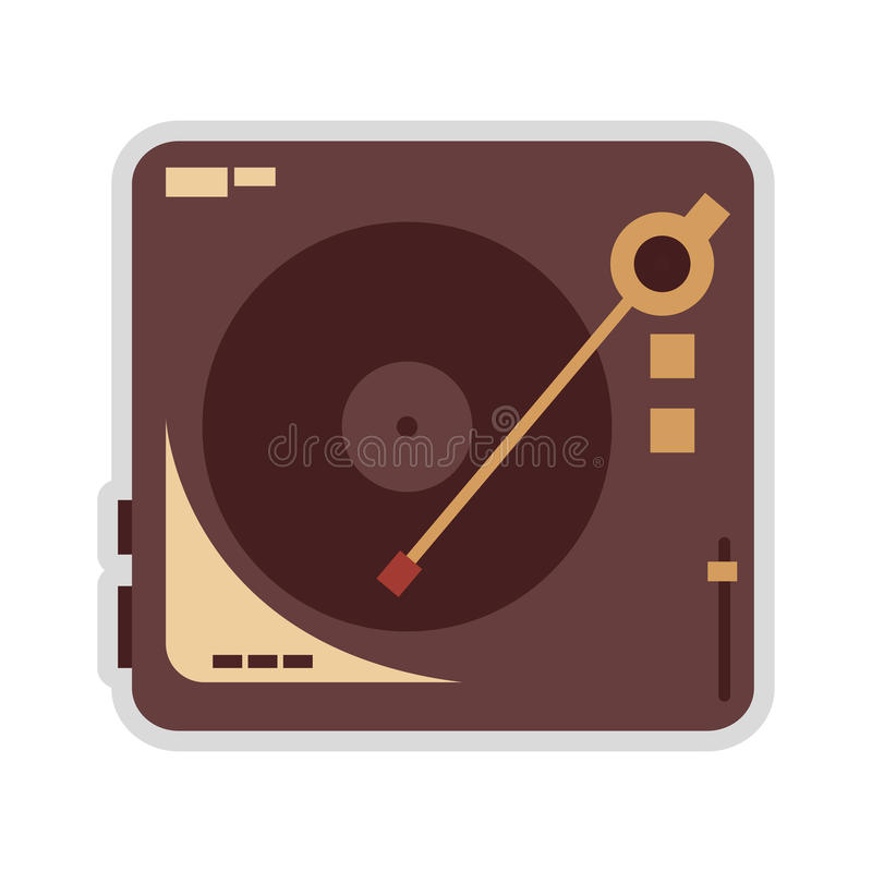vinylplatenspelerpictogram stock illustratie
