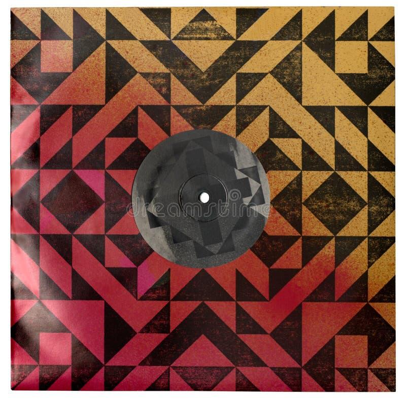 Vinylrekord i den isolerade färgrika räkningen - royaltyfri fotografi