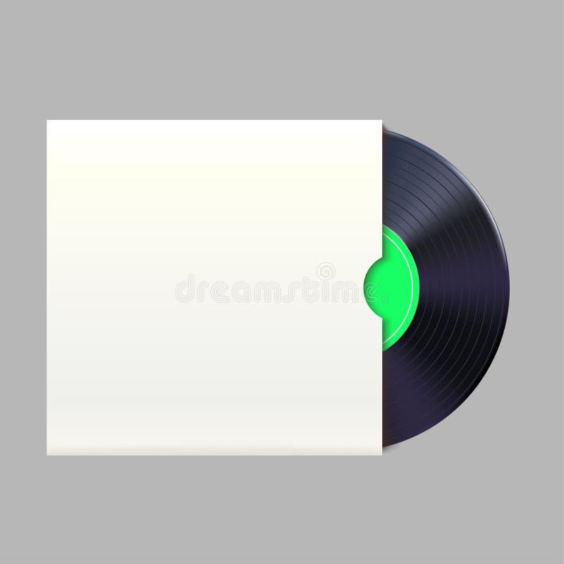Vinylrekord i packe stock illustrationer