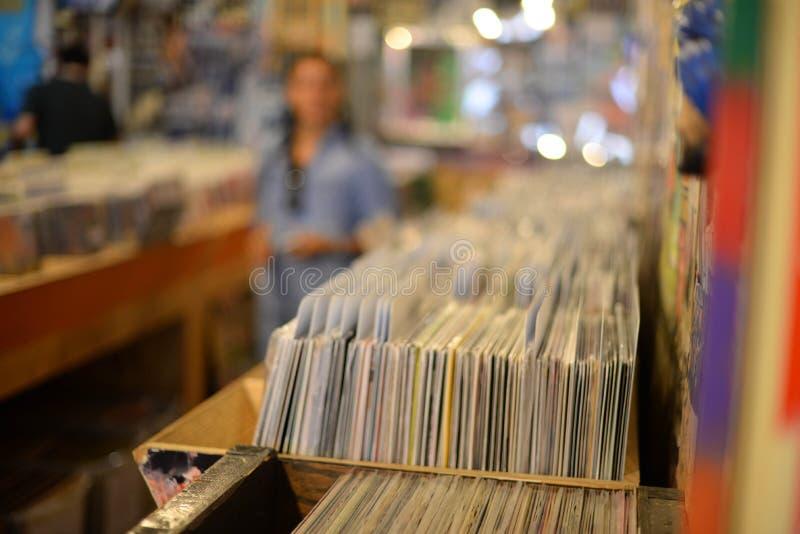 Vinylrekord i rekord- lager fotografering för bildbyråer